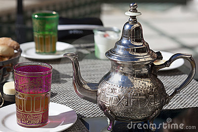 Drinking tea in Marocco