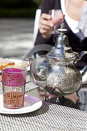 Drinking tea in Marocco