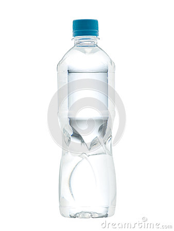 Drinking water bottle with blank label