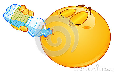 Drinking water emoticon