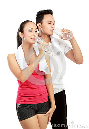 Drinking water after exercising