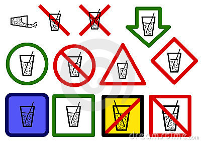 Drinking water signs