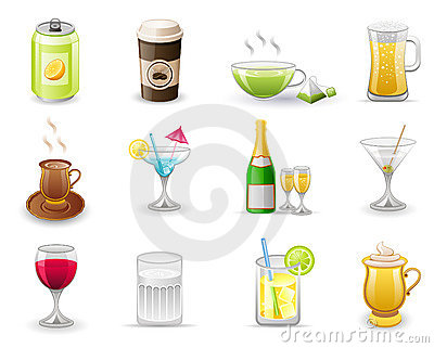 Drinks icon set.