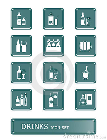 Free Drinks Icon-set Stock Image - 4164011