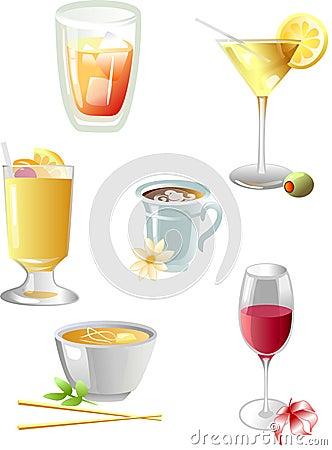 Free Drinks Icons Stock Photos - 4120993