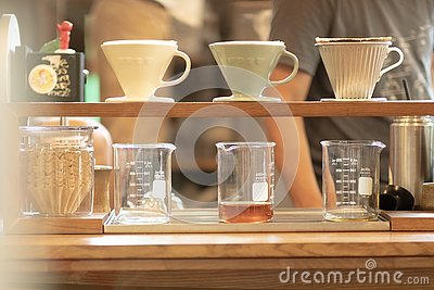 Drip coffee Stock Photo