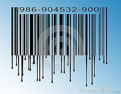 Dripping bar code