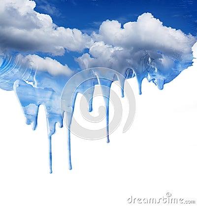 Dripping blue sky fantasy