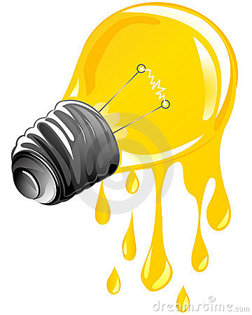 Dripping energy light bulb