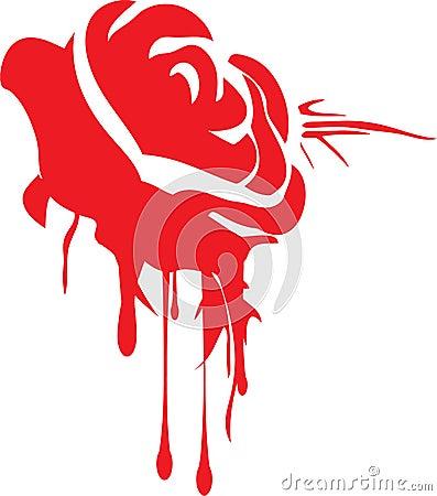 Dripping Grunge Rose