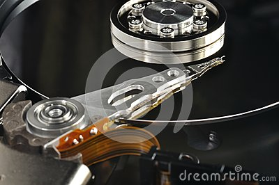 Drive del hard disk aperto