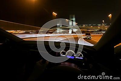 Drive fast at night