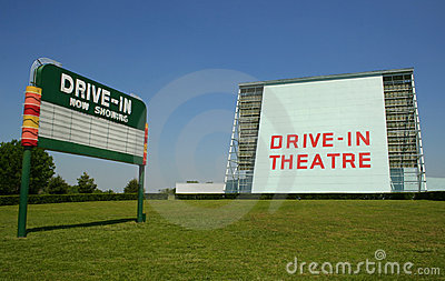 Drive-in movie sign