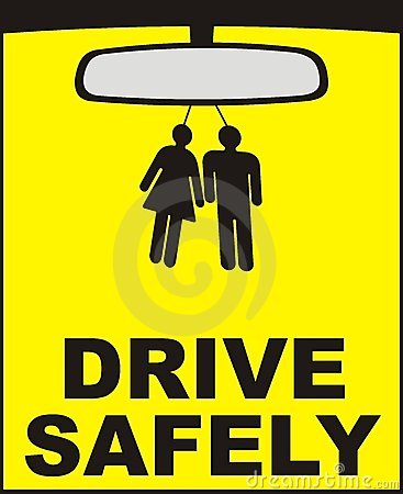 Drive safely vector