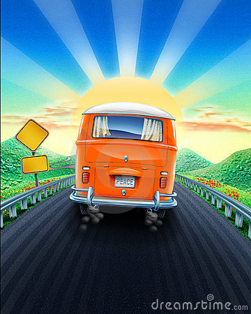 Drive Into Sunset Royalty Free Stock Image Image 4273026