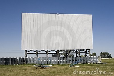 Drive-In Theatre Screen