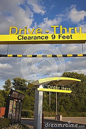 Drive Thru at Mcdonald s Editorial Stock Image