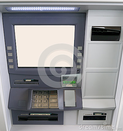 Drive Through or Walk in Bank Cash ATM  machine
