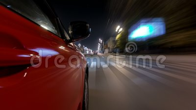 Drivelapse Urban Look From Fast Driving Car At A Night Avenue In A City  Timelapse Hyperlapse Stock Footage - Video of building cb075151b