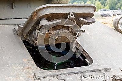 Driver s hatch mechanics of the T-34