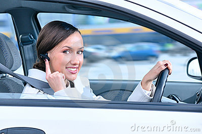 Driver is safely talking phone