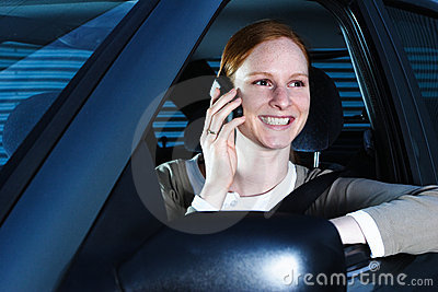 Driver Talking on the Phone
