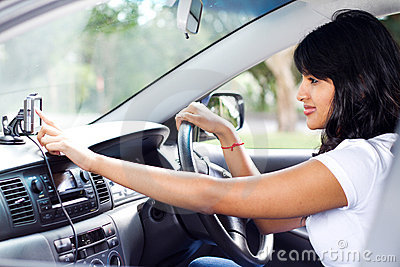 Driver using GPS