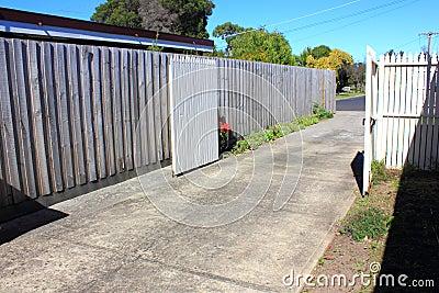 Driveway in suburbia