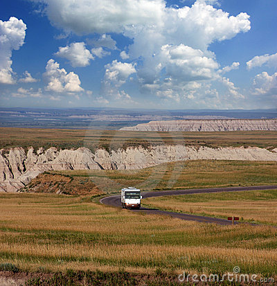 Driving Through the Badlands in a Motorhome