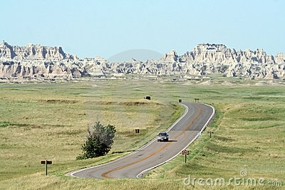 Driving Through Badlands National Park
