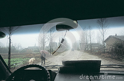 Country   road  in  china Editorial Stock Photo