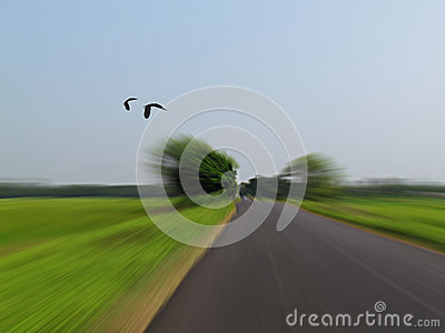 Fast driving