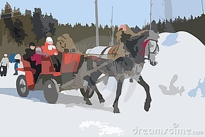 Driving on a horse