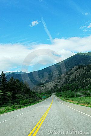 Free Driving In Highway Stock Photography - 5242742