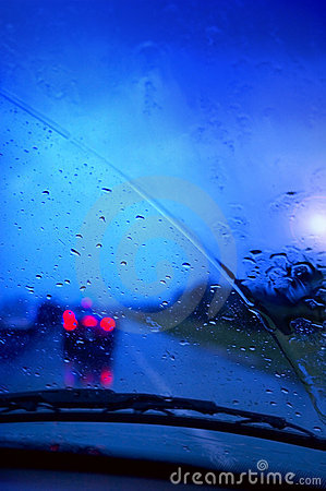 Free Driving In Rain Stock Photography - 3343902