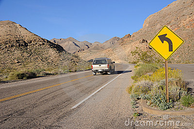 Driving Through Lake Mead National Recreation Area