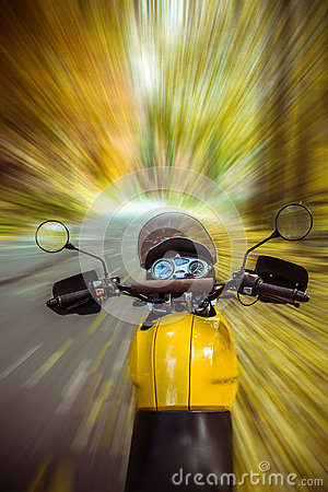 Driving a motorbike