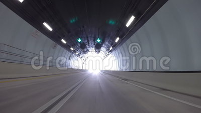 Driving through Port Miami Tunnel stock video