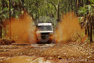 Driving Through Puddle