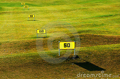 Driving range on golf course