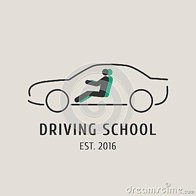 Free Driving School Vector Logo, Sign, Symbol, Emblem Royalty Free Stock Image - 82116956