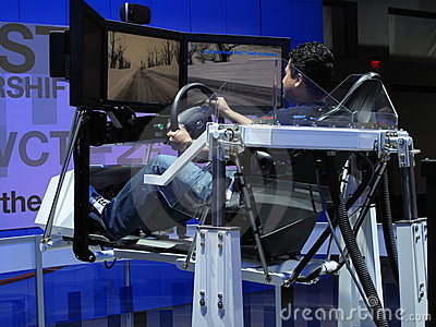 Driving Simulation Editorial Stock Image