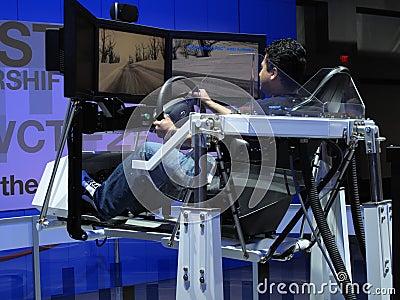 Driving Simulation Editorial Stock Image