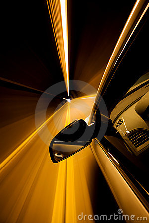 Free Driving Through Tunnel Stock Photography - 5184272