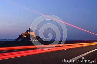 Driving to Mont Saint Michel