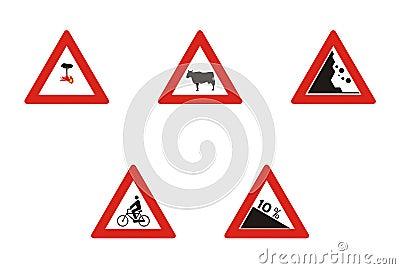 driving warning signs