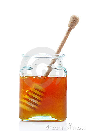 Free Drizzler Inside Of Honey Jar Stock Photography - 3846082