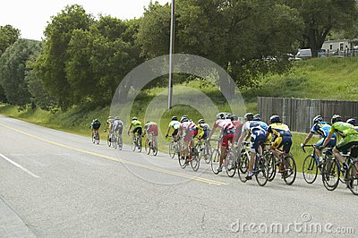 Drogowi bicyclists grupa Obraz Editorial