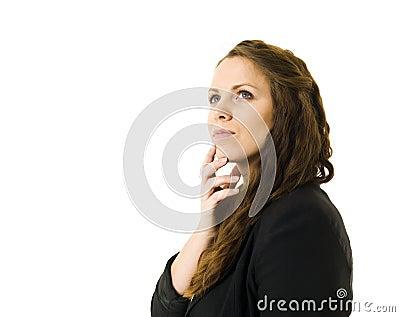 Dromende vrouw