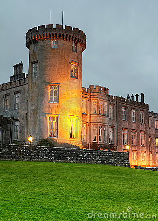 Dromoland Castle at night